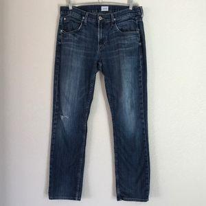 Hudson Jeans Dark Wash Distressed Straight Leg 34
